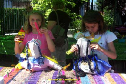 Atelier épouvantails, animation pour enfants.